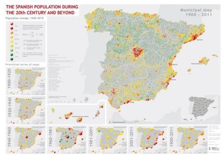 Spanish population 1900-2011